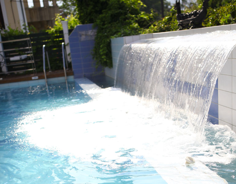 ... The Biggest Waterfall In Our Pool ...