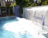The biggest waterfall in our pool